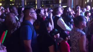 Fans watch Star Wars: The Last Jedi Trailer at Downtown Disney