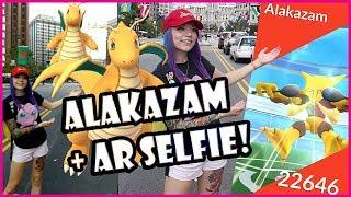 SOLO ALAKAZAM RAID + HOW TO TAKE A POKEMON GO AR SELFIE!