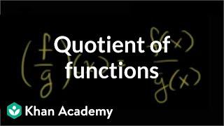 Quotient of Functions