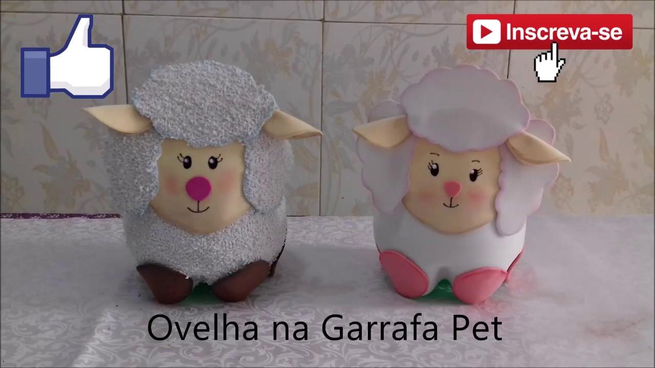 Ovelha Na Garrafa Pet De Eva Com Molde E Passo A Passo Youtube