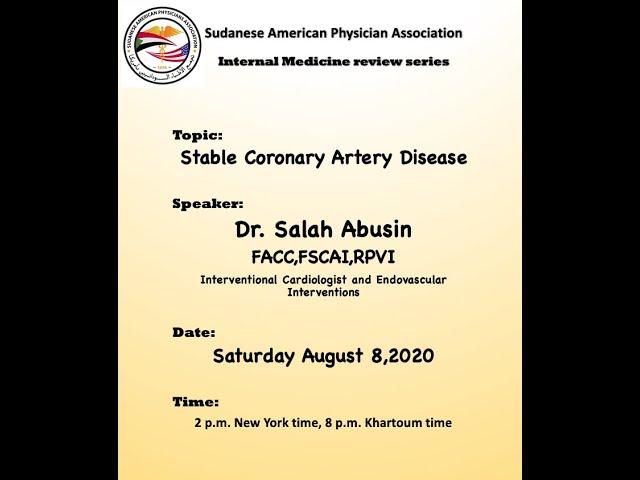 SAPA IM review: Stable coronary artery disease