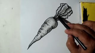 How to Draw A Carrot || Easy Sketch, Draw, Shade