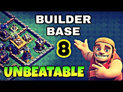 UNBEATABLE BUILDER BASE 8 LAYOUT W/ REPLAYS | BUILDER HALL 8 BEST BASE | CLASH OF CLANS