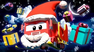 Frank the Santa Claus - Tom the Tow Truck's Paint Shop - Car City ! Cars and Trucks Cartoon for kids