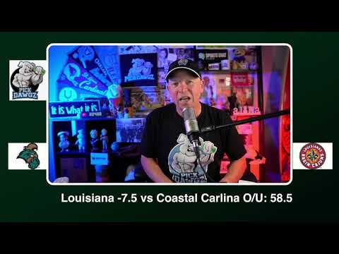 Louisiana vs Coastal Carolina Free College Football Picks and Predictions CFB Tip Wednesday 10/14/20