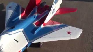 Composite-ARF MiG 29 - Twin turbine RC Jet Model first flight in Russia 10-11/10/2009