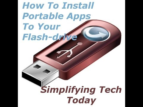 How To Install Portable Apps To Your Flash Drive   Simplifying Tech Today