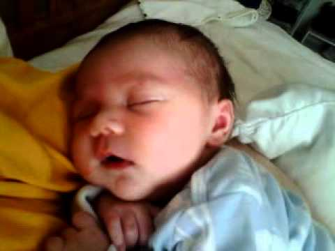 Newborn Baby Laughing In Sleep