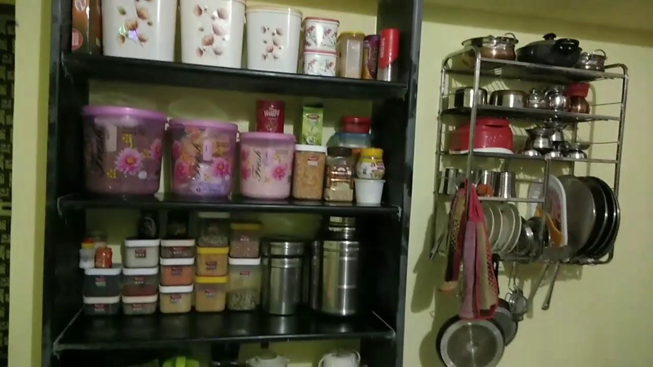 Indian Kitchen Tour 2021 Kitchen Design India Indian Kitchen Design Simple Kitchen Designs Youtube