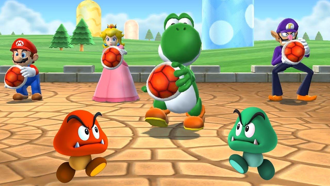 Mario Party 9 - Yoshi + Waluigi + Peach + Mario - Hard Gameplay