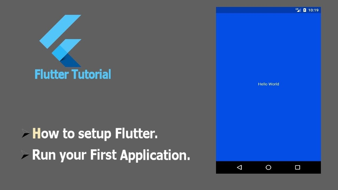 How to Setup Flutter and Run your First Flutter Android Application