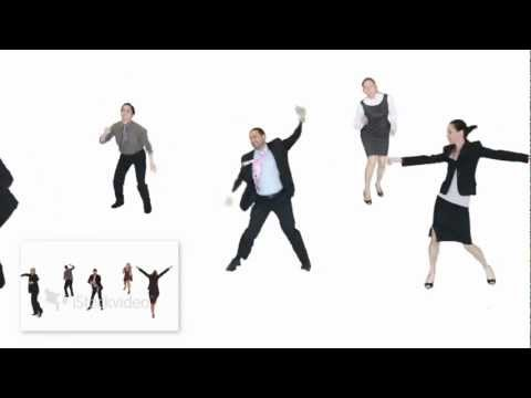 Stocking Dancing Business People video