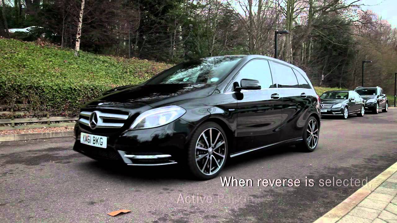 mercedes benz b class active park assist youtube. Black Bedroom Furniture Sets. Home Design Ideas