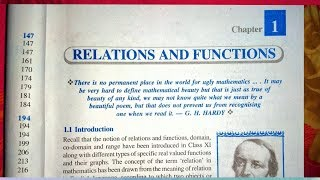 12 th (NCERT) Mathematics-RELATION & FUNCTION CHAPTER-1 INTRO | Reflexive, Symmetric, Transitive
