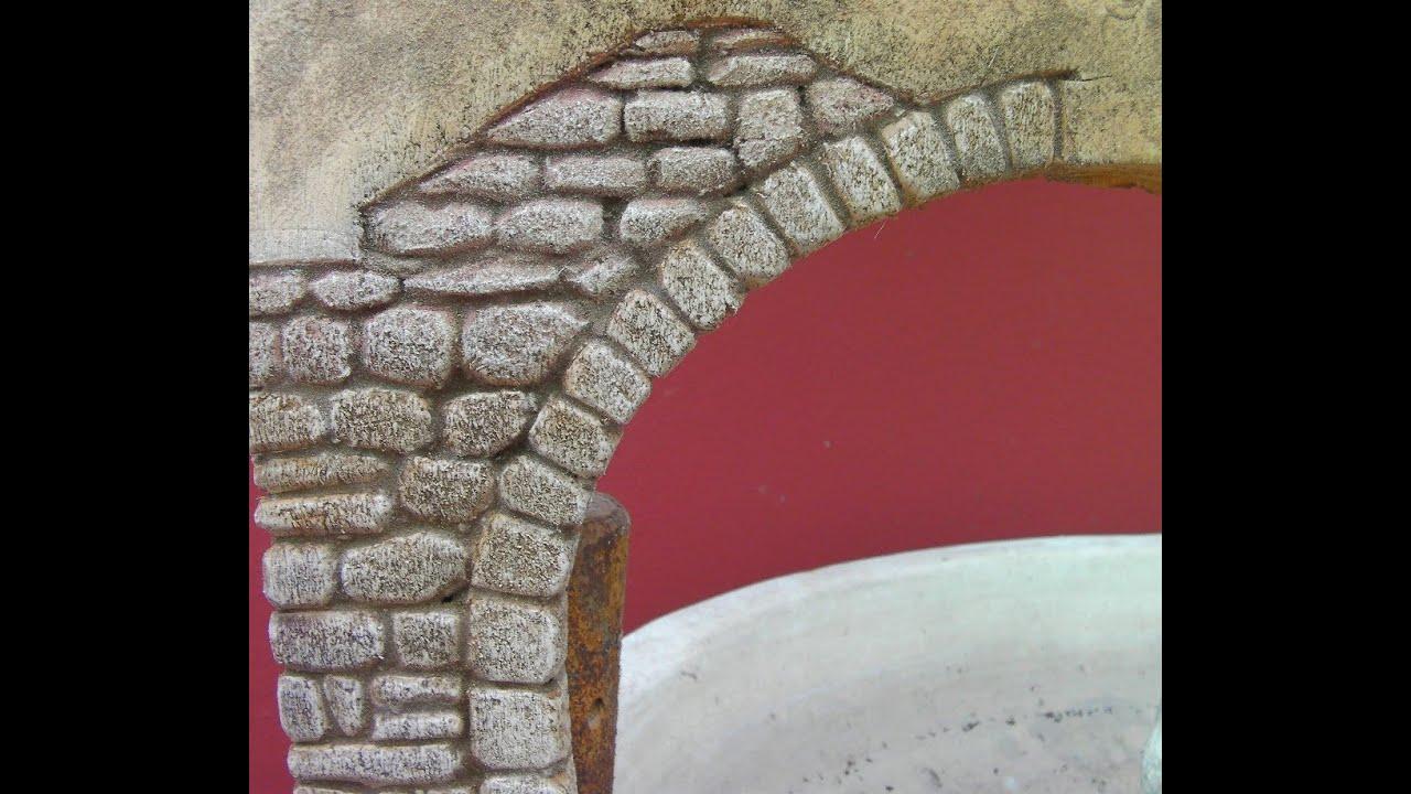 Imitaci n de arco de piedra para paredes imitation stone for Como pintar imitacion piedra