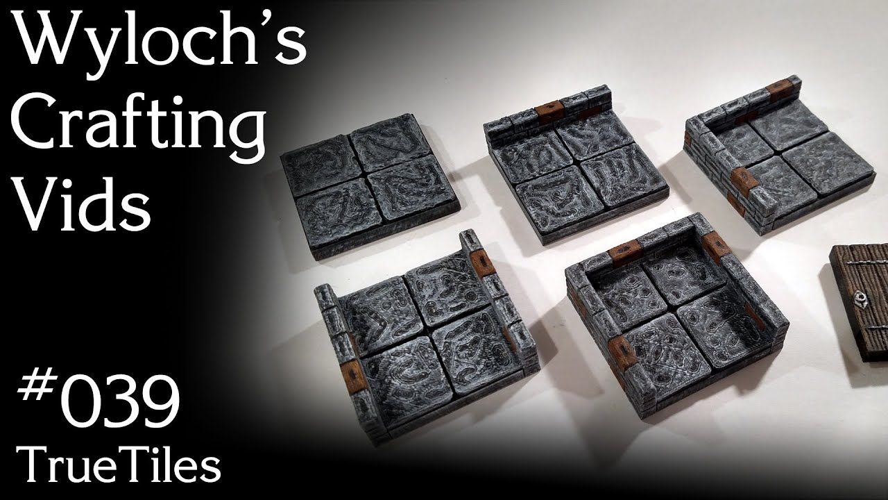image relating to Dungeons and Dragons Tiles Printable called TrueTiles - 3D Printable Tiles for Dungeons Dragons, Pathfinder Terrain (WCV 039)