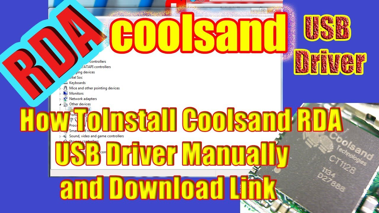 How To Install Coolsand RDA USB Driver Manually and Download Link