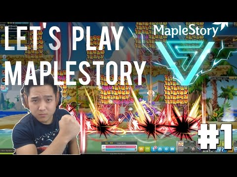 FLYING WITH THE V : Let's Play MapleStory [Road To 200] Ep.1