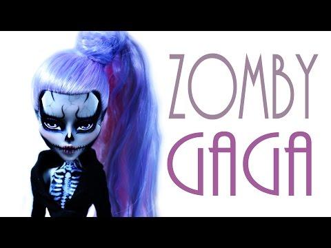 Zomby Gaga Doll Repaint [MONSTER HIGH]