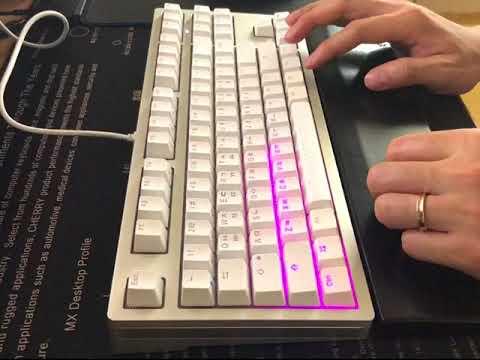 ikbc MF87 [적축] LED 모드 영상