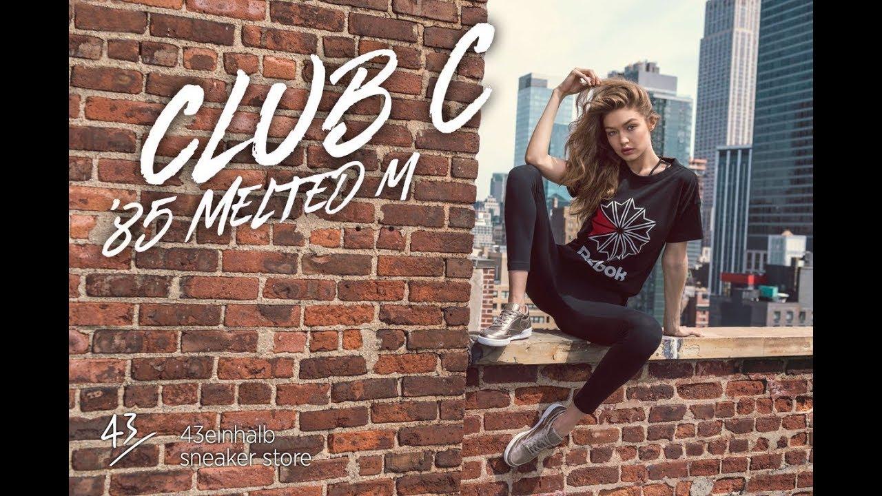 fd89bde3567c30 Reebok CLUB C 85 MELTED METAL feat GIGI HADID - YouTube