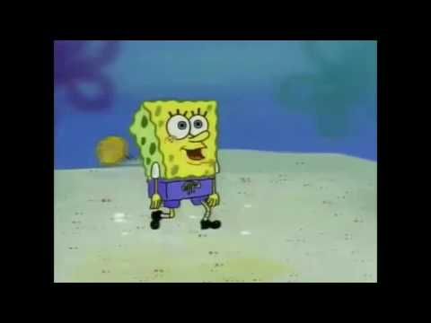 spongebob steps on the beach at a slowly increasing speed until eventually reaching maximum velocity