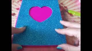 Tutorial quaderno decorato con Gomma Eva *-*