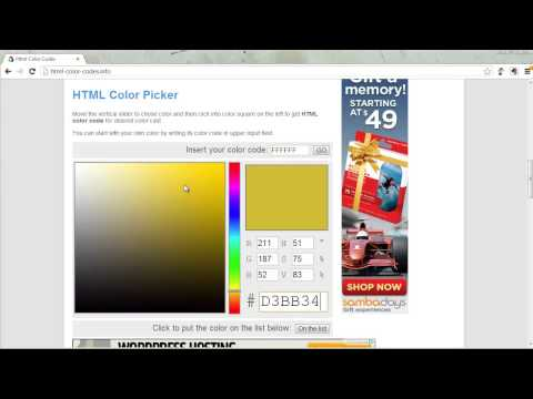 HTML Tutorial 6 Of 7:  Cascading Style Sheets Part 1