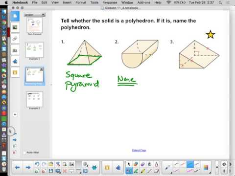 Chapter 11 Lesson 4   Naming Polyhedra