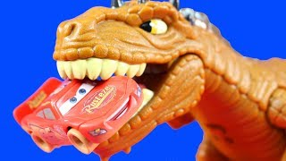 Disney Cars 3  Mater Wakes Lightning McQueen Up From Dream And Gets Eaten By Imaginext Dinosaur