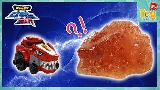 최강공룡합체 다이노코어 티라노 케라토 3D 입체 젤리 만들기 미니어처 변신로봇 공룡로봇 장난감 키즈 실리콘 몰드 젤라틴 뽀로로 [토이롤]