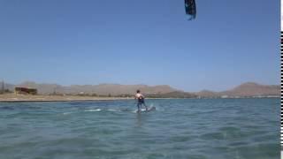 young Dutch kite student mallorca kitesurfing lessons pero poco viento