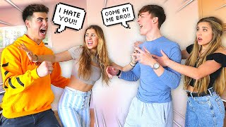 ARGUING IN FRONT OF OUR GIRLFRIENDS PRANK! *BAD IDEA* (Ft. Jack And Gab)
