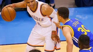 RUSSELL WESTBROOK VS STEPHEN CURRY PARODY! NBA 2K17 WARRIORS VS THUNDER GAMEPLAY HIGHLIGHTS