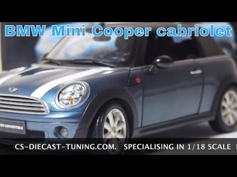 BMW mini cooper cabriolet 1/18 review