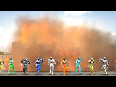 Super Sentai Legend Wars: All 10 Kyurangers ( With Koguma Sky Blue)
