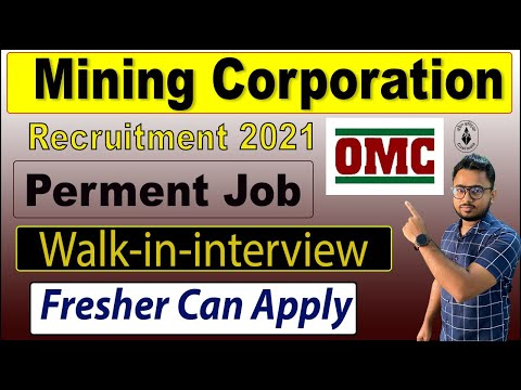 Mining Corporation Recruitment 2020 || OMC Recruitment 2021 - Walk in for 93 post