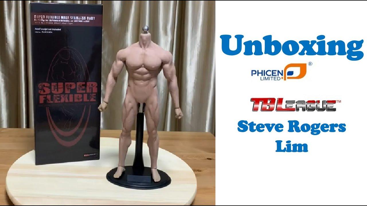 1//6 Phicen Super Flexible Male Muscular Seamless Body Tbleague M35 TBLeague