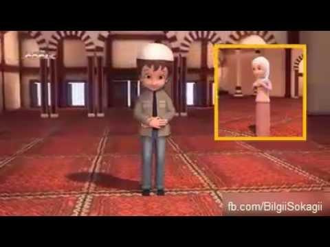 Namaz Nasıl Kılınır Çocuklar İçin Animasyon