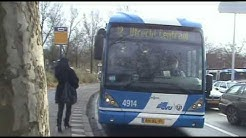 Double articulated buses Van Hool newAGG300 in Utrecht 26-11-2008