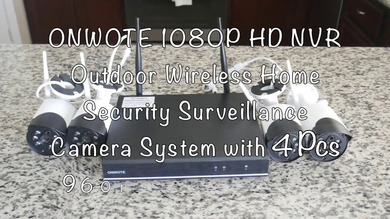 9dc274eb500 Unboxing And Setup of ONWOTE 4CH 1080P Wireless NVR HD Security Camera