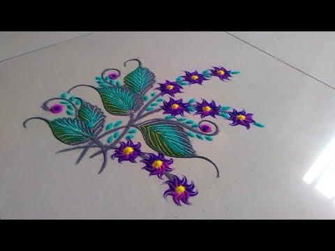 How to make Easy and creative rangoli design made by Jyoti Raut Rangoli