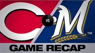 Suarez stuns Brewers with late homer | Reds-Brewers Game Highlights 7/22/19
