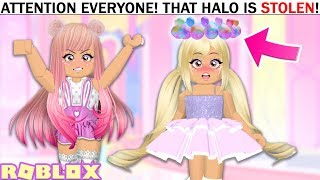 She STOLE The BRAND NEW HALO So I Taught Her A Lesson She Won't Forget... Roblox Royale High Update