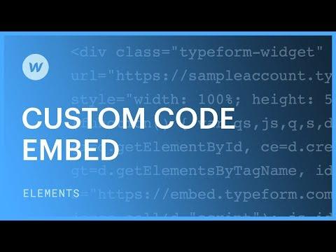 Custom code embed | Webflow University