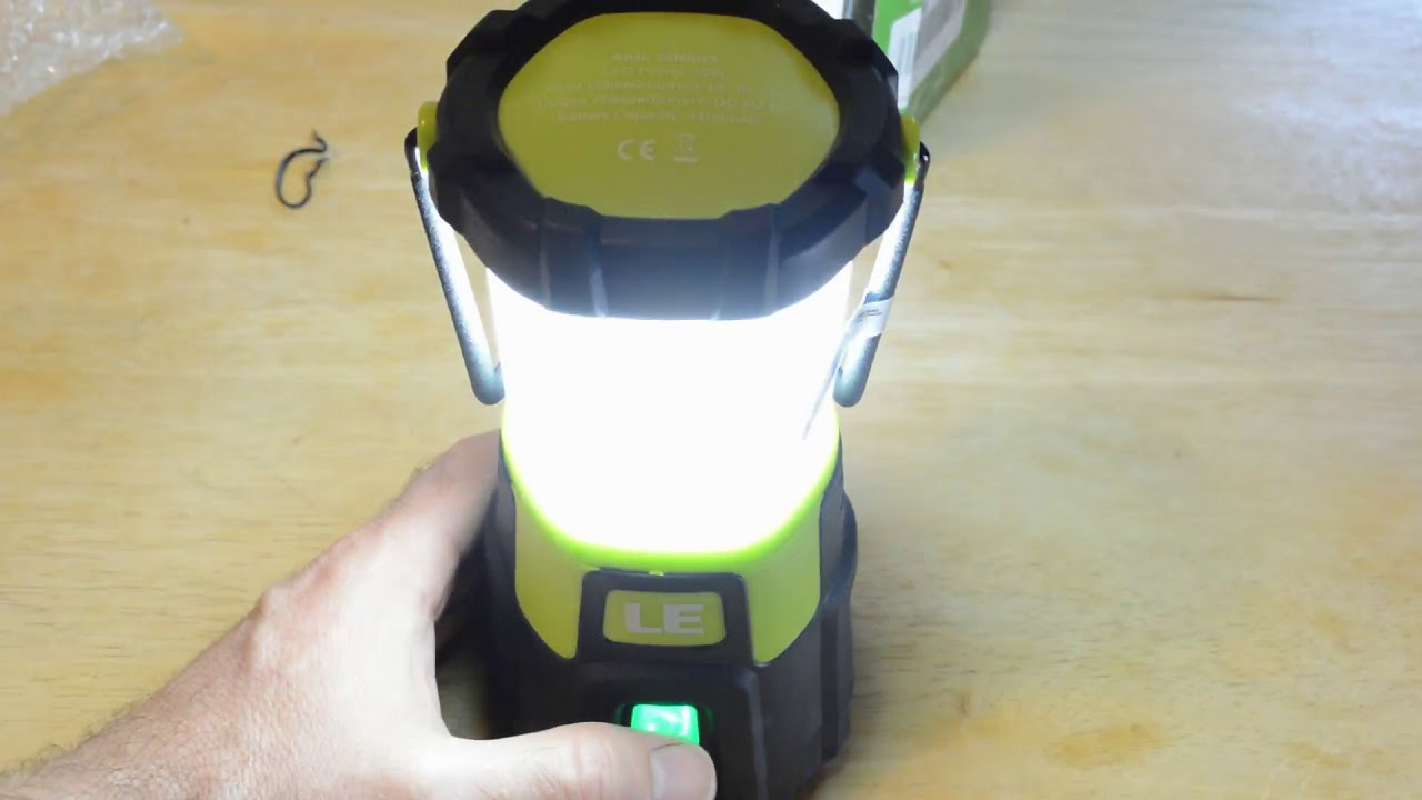 Le Lighting Ever Rechargeable Led Camping Lantern Review