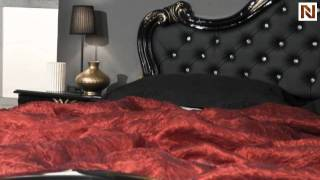Judy - Italian Classic Black Bedroom Set (leather Headboard) Vgaccjudy-le