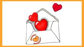 Как нарисовать сердечки в конверте(Как легко нарисовать сердечки в конверте смотрите в этом видео., 2017-02-06T14:09:22.000Z)