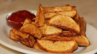 French Fries Recipe - Fried Potato Wedges Recipe