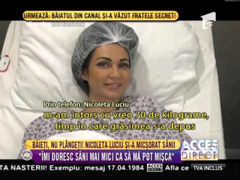 Nicoleta Luciu și-a micşorat sânii!